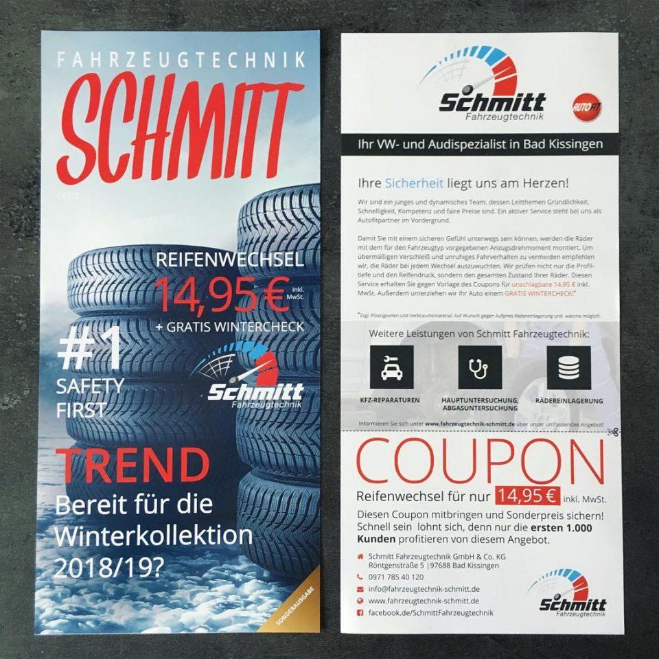 Werbe-Flyer für eine Verkaufsaktion