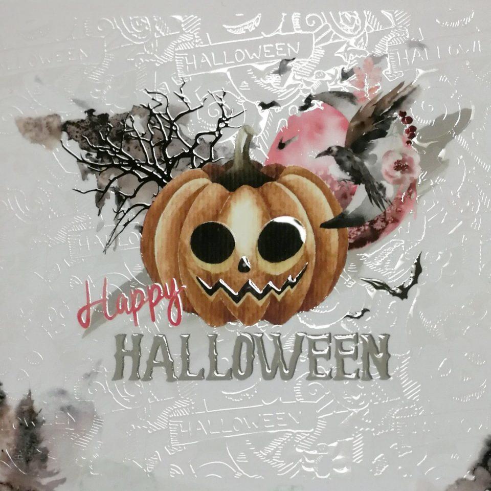 Halloween Grußkarte mit Spotlack
