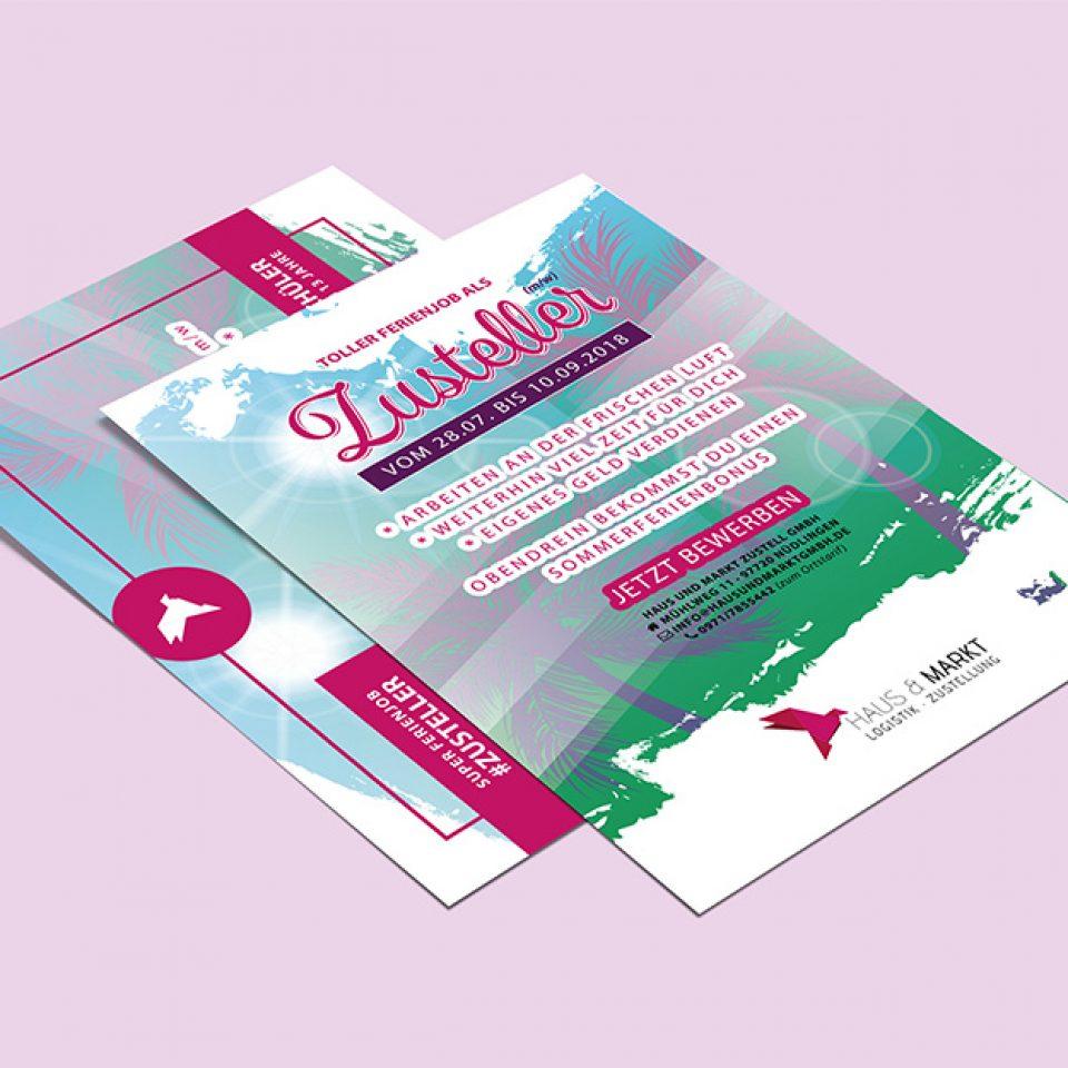 Sommerlicher Flyer für Haus & Markt