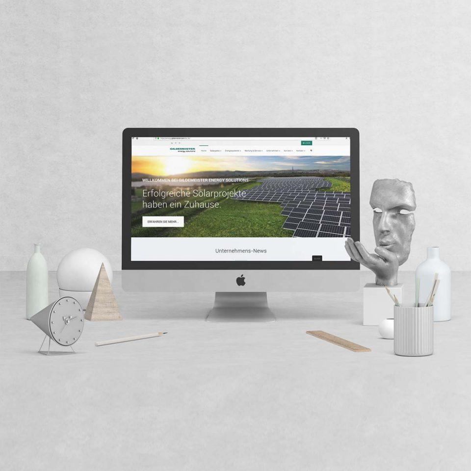 Webauftritt GILDEMEISTER energy solutions GmbH