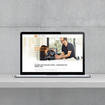 WordPress-Homepage Zahnarztpraxis