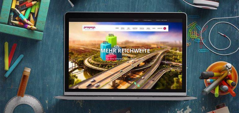 Internetauftritt  Prospega GmbH