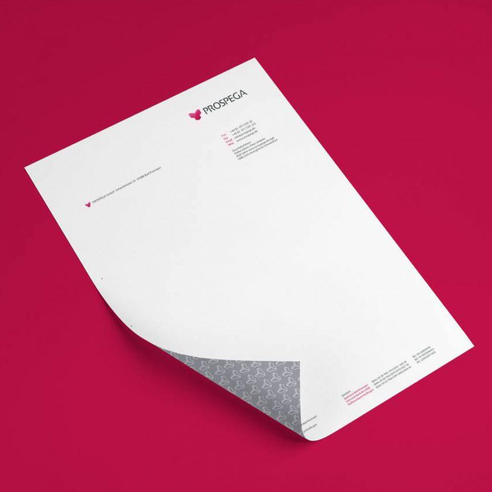 Relaunch Erscheinungsbild der Prospega GmbH