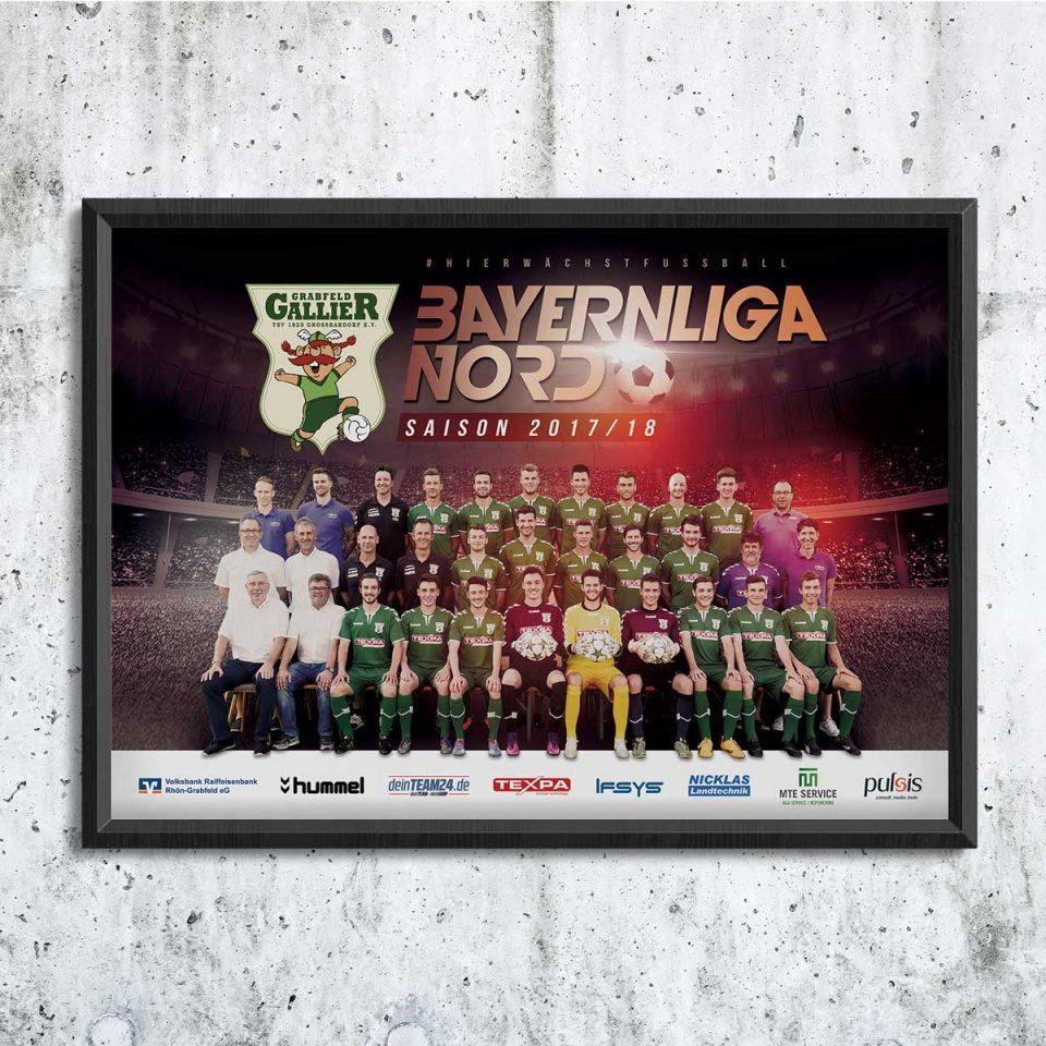 Fotoshooting Fußballmannschaft