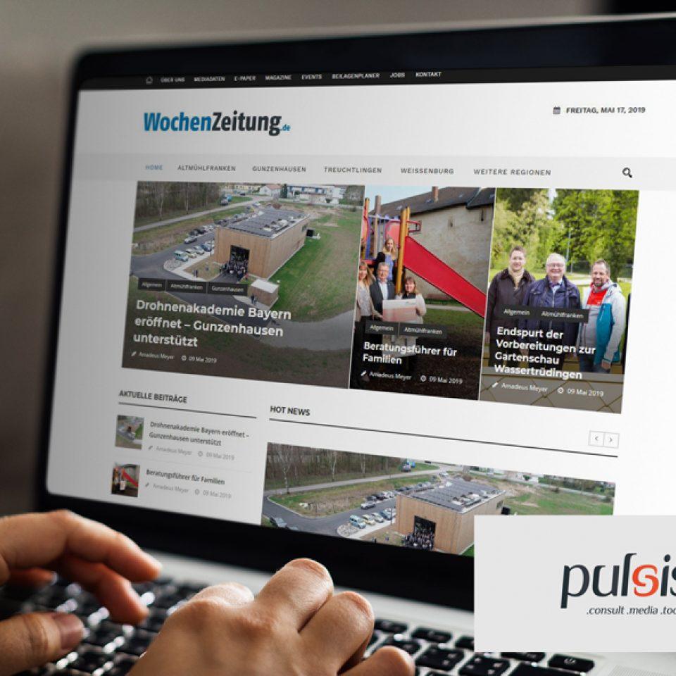 Website Wochenzeitung Altmühlfranken