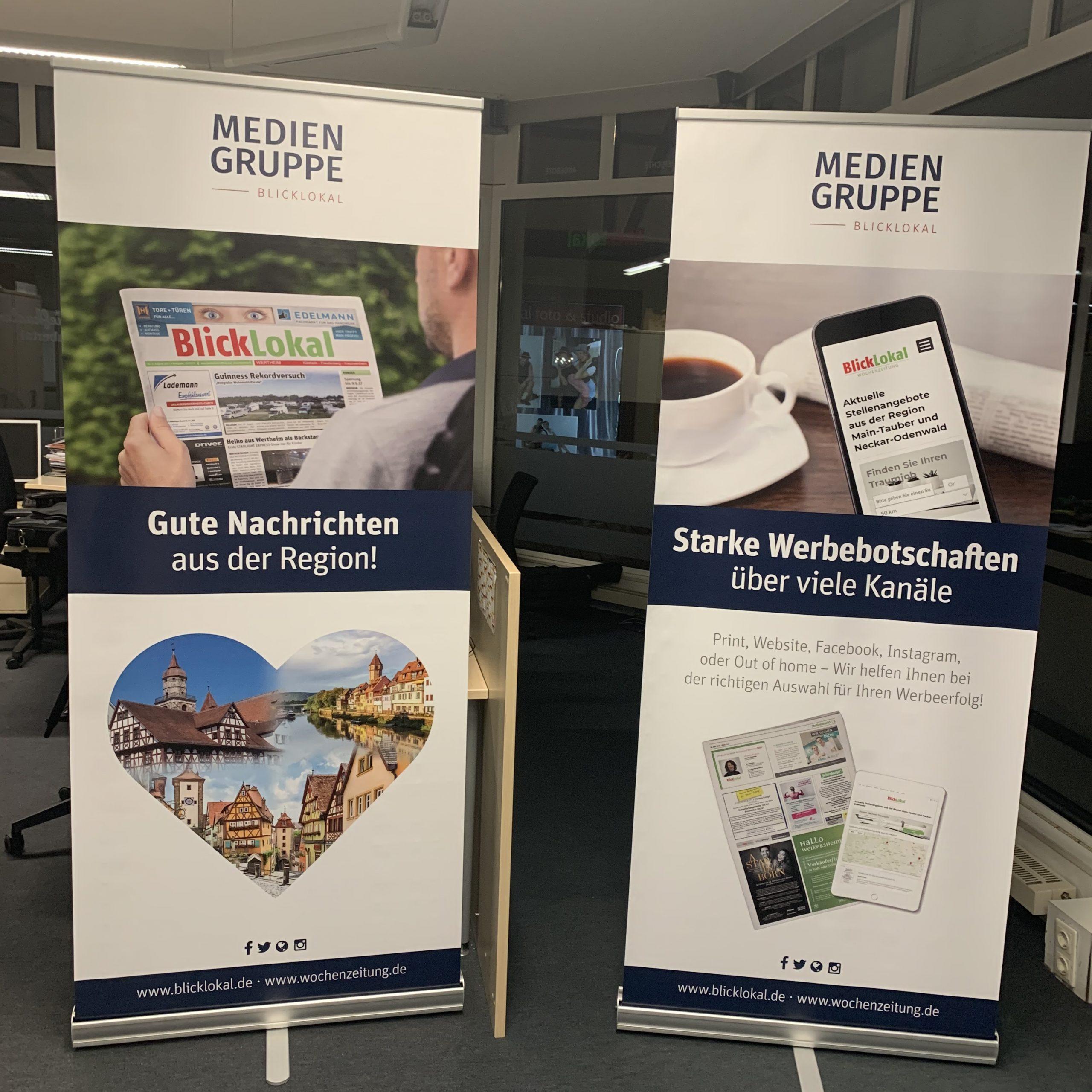 Mediengruppe-Blicklokal Roll-up