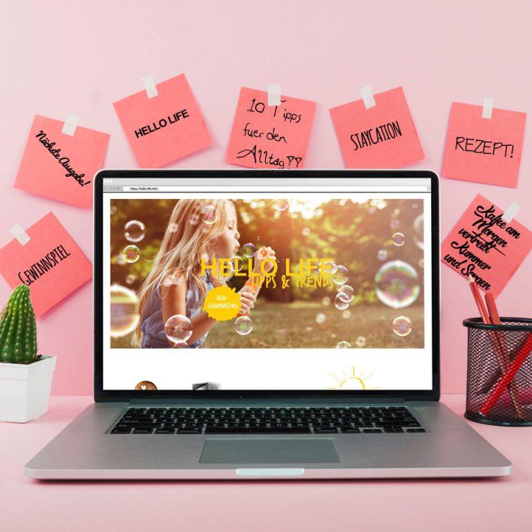 HELLO LIFE Webseite