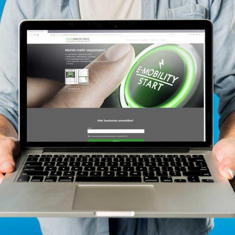 Elektromobilität Jobs Website