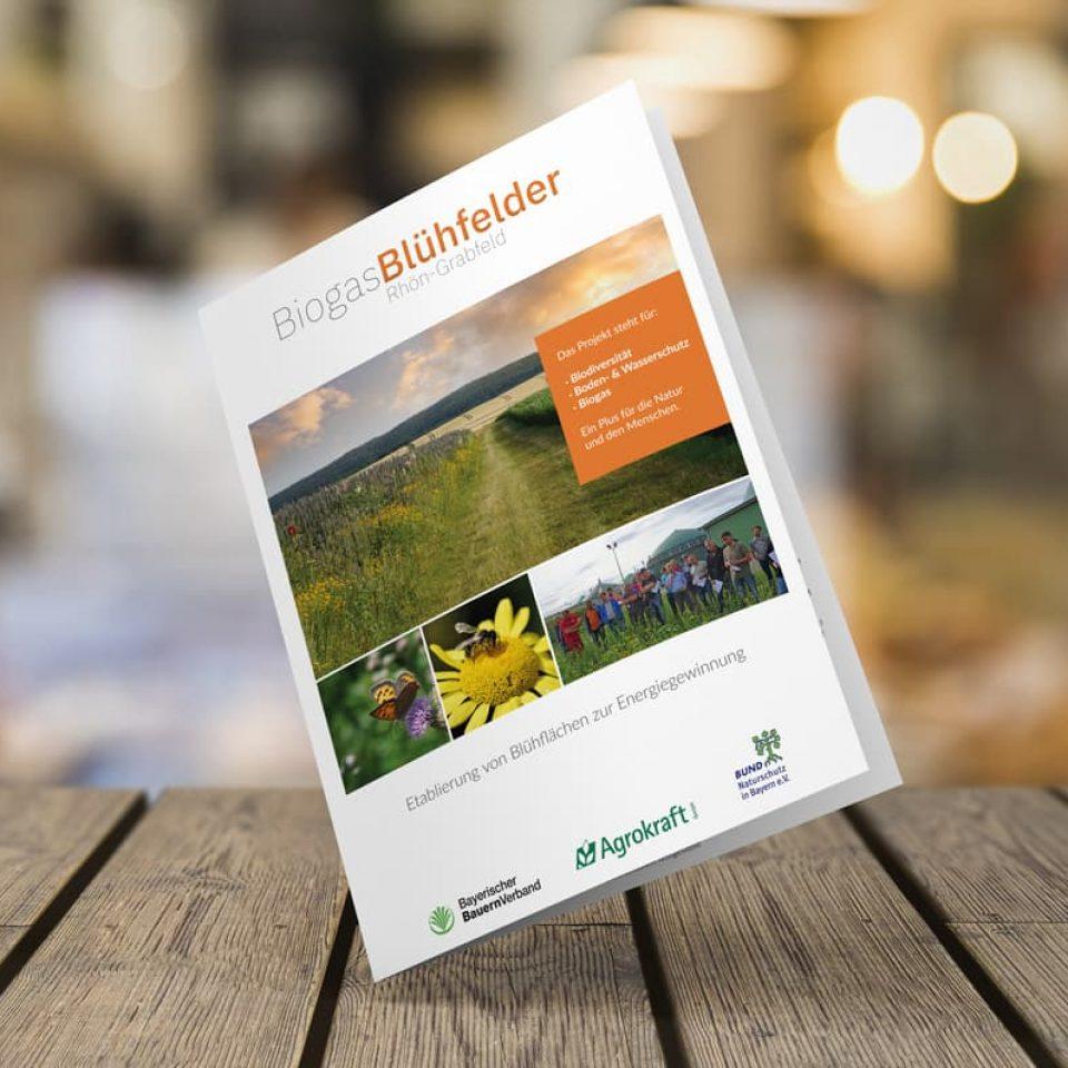 Agrokraft Biogas-Blühfleder DIN A4 6-Seiter