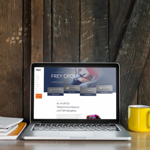 Webseite Frey Group